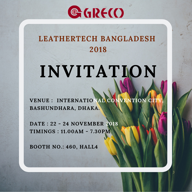 GRECO INVITATION of International Footwear & Leather Products Exhibition - Vietnam 2018
